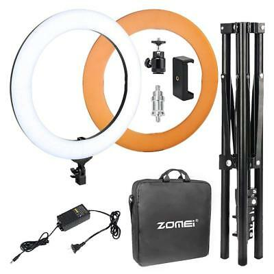 Zomei 18-inch LED Ring Light Lighting Kit with Ball Head and Phone adapter