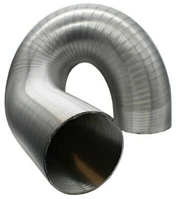 Silver Aluminium Flexible Duct Hose 40mm - 76mm Choose Length Pipe Hot Air