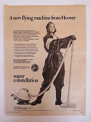 Vintage advertising original 1960s Australian ad HOOVER CONSTELLATION VACUUM
