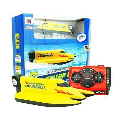 2.4GHz 4 Channel Water Cooling High Speed Remote Control  Racing RC Boat Yellow