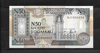 SOMALIA #R2 UNCIRCULATED REGIONAL currency 50 SHILLIN BANKNOTE NOTE PAPER MONEY