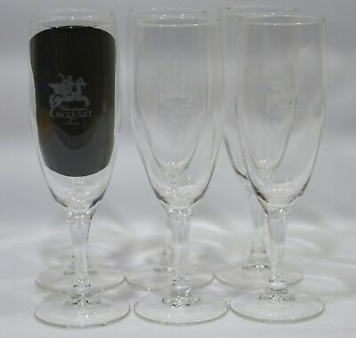 JACQUART CHAMPAGNE 6 Verres flûte NEUF