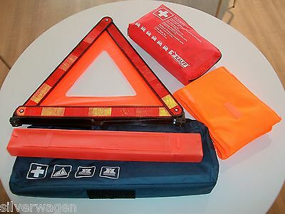 Genuine VW Safety Kit Inc Warning Triangle, First Aid Kit, & High Vis Jackets