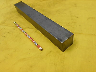 "1045 CR STEEL SQUARE BAR STOCK machine shop flat 1 1/2"" x 1 1/2"" x 12"" OAL"
