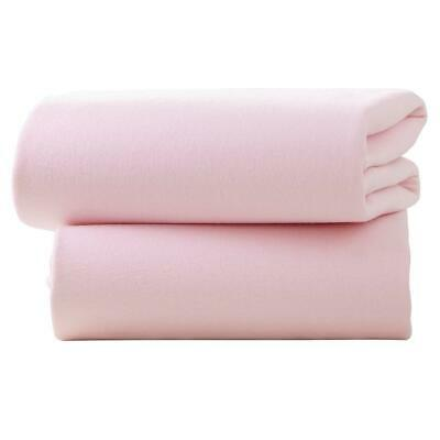 Clair De Lune Fitted Sheets for Moses Baskets - Pack of 2 (Pink)