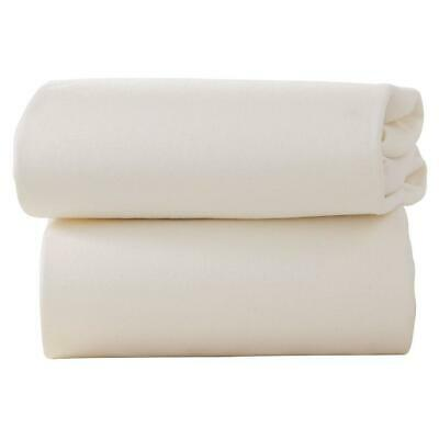 Clair De Lune Fitted Sheets for Moses Baskets - Pack of 2 (Cream)
