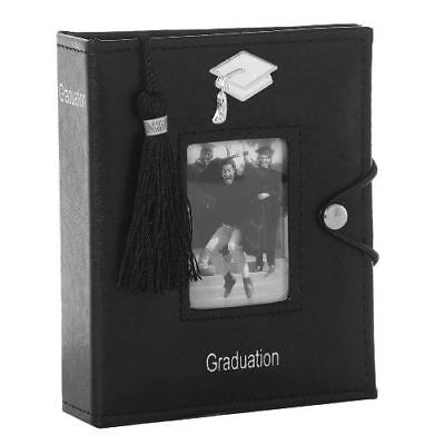 Black Graduation Photo Picture Album with Tassel Gift Party Decorations Memories