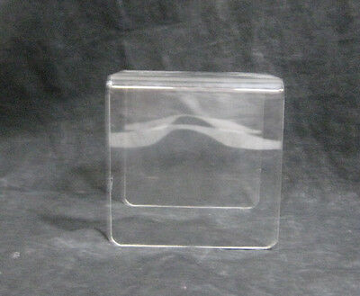 "Acrylic 3 Sided Riser 4"" Pedestal Store Display Home Stand Product Placement"