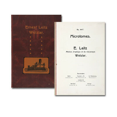 Leitz, Ernst (Hrsg.). Microtomes. No. 44 F. 1911