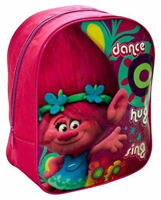 Trolls Poppy Girls Pink Junior Mini Nursery Backpack Travel School Trip Kid Bag