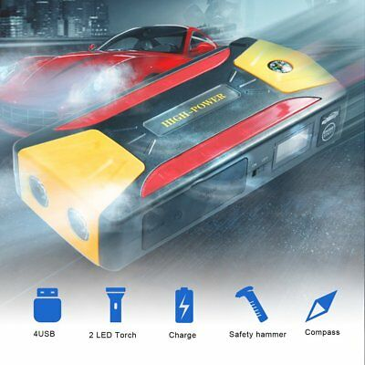 82800mAh Portable Car Jump Starter Battery Booster with LED USB Power Bank F7