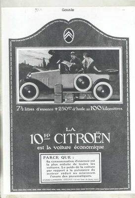 1919 ? Citroen Ad ORIGINAL Factory Photograph wy3070