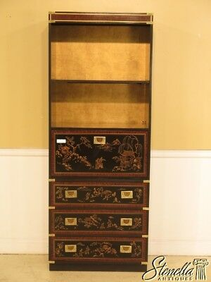 28894: DREXEL Chinoiserie Bookcase Cabinet w. Fall Front Desk