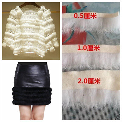 1 Meter Fluffy Fur Trimming Apparel Sewing Craft White Black 0.5/1.0/2.0cm Width