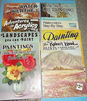 Books 8 How to Paint Draw Art Landscapes French Artist Watercolors South Seas