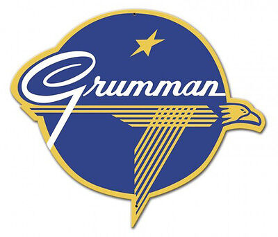 Grumman Logo Plasma Metal Sign - Hand Made in the USA with American Steel
