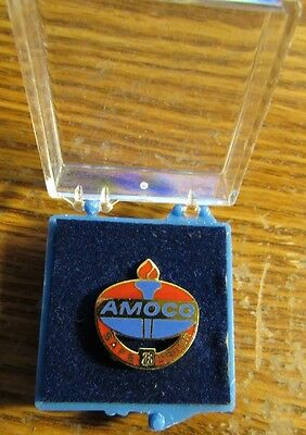 Vintage AMOCO Safe Driver 23 Years Pin in presentation box - Gas Oil