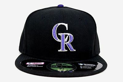 uk availability 16e84 1fd0c Colorado Rockies Black Cool Base On-Field Purple MLB New Era 59Fifty Fitted  Hat