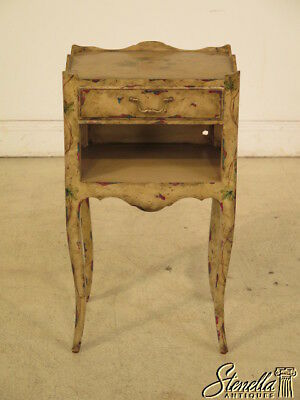 40094E: MAITLAND SMITH Paint Decorated 1 Drawer Nightstand
