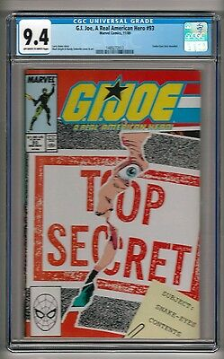 "G. I. Joe, A Real American Hero #93 (1989) CGC 9.4 OW/W Pages  ""Snake-Eyes"""