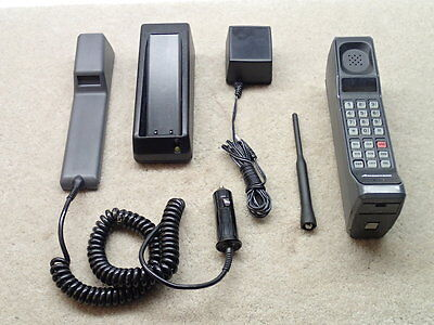 Motorola Ameritech Vintage Brick Style Cellular Cell Phone with Accessories Nice