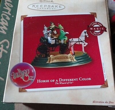 HALLMARK KEEPSAKE ORNAMENT ~ THE WIZARD of OZ ~ HORSE of a DIFFERENT COLOR *NEW