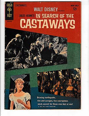 IN SEARCH OF THE CASTAWAYS #1 (FN) Jules Verne! Movie Comic 1963 Gold Key Comic