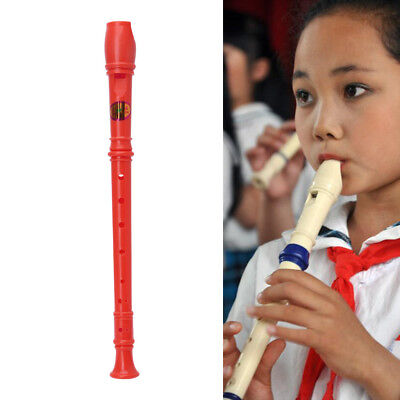 Plastic Musical Recorder Instrument Soprano Long Flute 8 Holes New