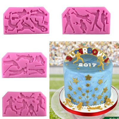 Sports Balls Silicone Fondant Cake Mould Decor Chocolate Cupcake Baking Mold