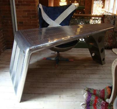 Aviator Rounded Wing Desk - Plane / Aeroplane Furniture - 184cm Long x 83cm Deep