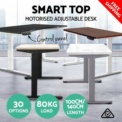 Height Adjustable Standing Desk Office Sit Stand Electric Table Computer Desk