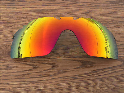 fire ruby red mirrored  polarized  Replacement Lenses for Oakley Radarlock XL