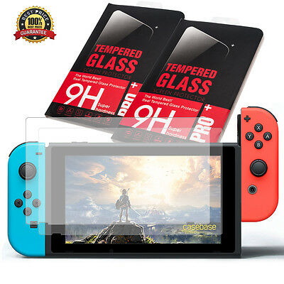 2 x Nintendo Switch Guard Tempered Glass Screen Protect Shield 9H Super Hardness