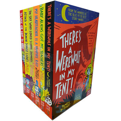 Pamela Butchart Collection Baby Aliens 6 Books Set There's a Werewolf In My Tent