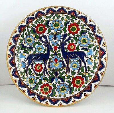 'STAG' DECORATIVE PLATE - Hand Made by SEVA - 24k Gold decoration