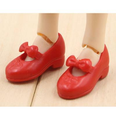 New Doll Outfit Bow Shoes for Blythe Momoko Azone BJD Barbie Dolls Shoes Red
