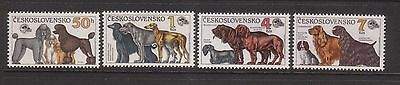 Czechoslovakia 1990  Dogs  Mint unhinged  set 4 stamps.