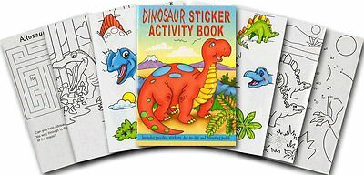 Dinosaur Sticker, Colouring & Puzzle Activity Book A6 size