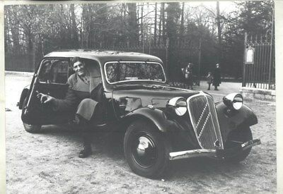 1938 ? Citroen Traction Avant and Giant Man ORIGINAL Factory Photograph wy3129