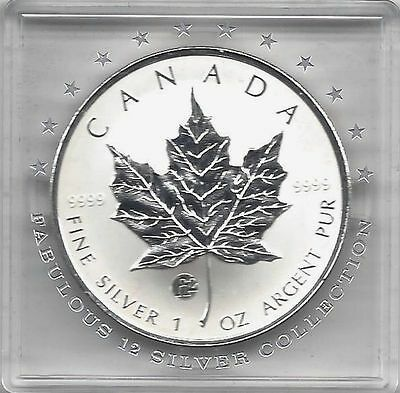 Maple Leaf 2008 Fabulous 12 Privy Mark F12 5$ 1 Unze Silber max. 5.000Ex.! RAR!