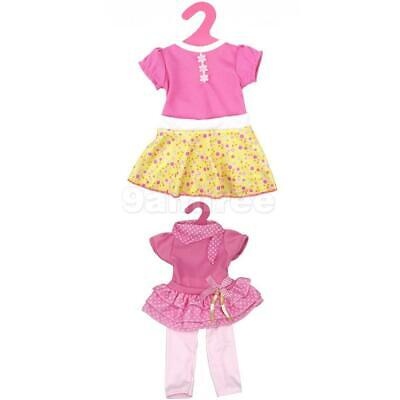 2 Sets Cute Party Dress Outfit Clothes for 18inch American Girl Doll Accessories