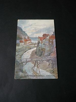 STAITHES BECK, Tuck Oilette 7557, Picturesque Yorkshire, The N.E.Coast