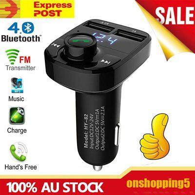 Bluetooth Car Kit MP3 Player FM Transmitter SD USB Charger For Phone 7 OZ