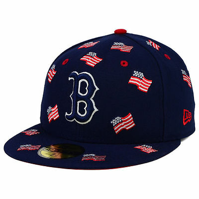 8ec38ffdd Boston Red Sox MLB July 4th Independence Day America USA Flag Nation Hat Cap  Lid