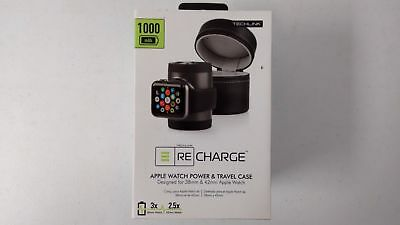 Techlink Recharge 527090 Apple Watch Power Charger & Travel Case - Black
