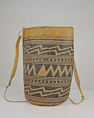 Vintage to Antique Woven rattan Dayak basket from Borneo