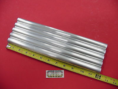 "5 Pc 3/4"" OD x .065"" Wall 6061 T6 ALUMINUM Round Tube 12"" long 5/8"" ID Seamless"