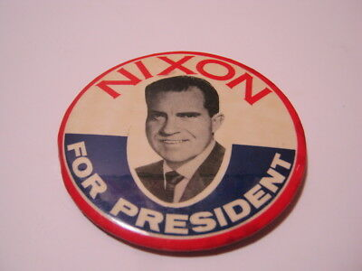 Nixon For President Vintage Political Button Pin  T*