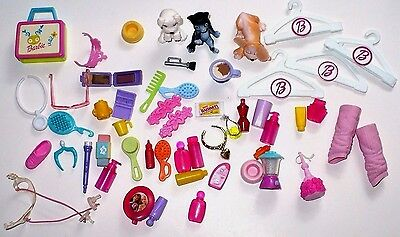Vintage Barbie Lot Of Accessories Beauty Products Pets & More