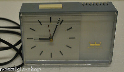 Original 50er 60er Table Clock Grandfather Westclox Electric Watch Pastel Blue